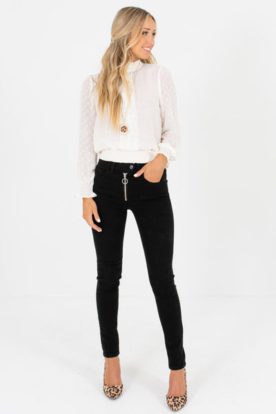 Black Cute and Comfortable Boutique Skinny Jeans for Women