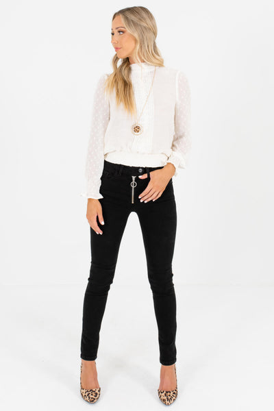 Black High-Quality Denim Boutique Skinny Jeans for Women