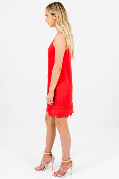 Red Silky Satin Mini Slip Dresses Affordable Online Boutique