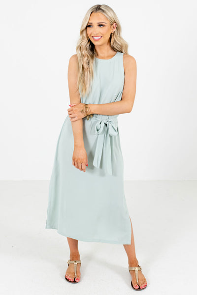 Green Tank Style Boutique Midi Dresses for Women