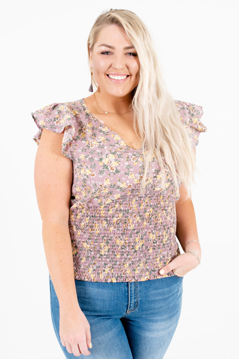 Trip to Verona Purple Floral Top