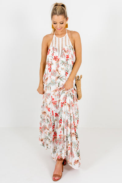 White Cute and Comfortable Boutique Maxi Dresses for Women