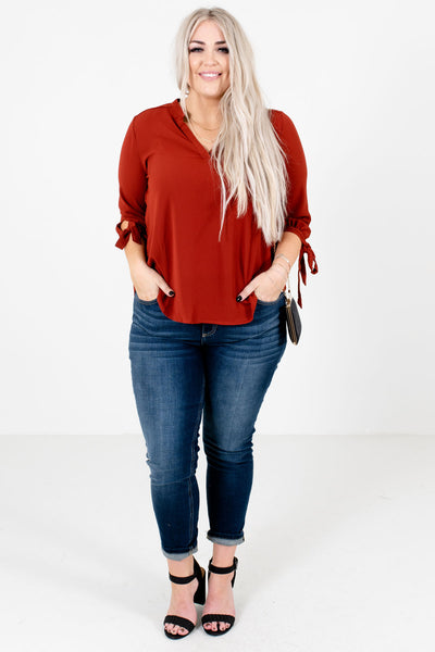 Women's Rust Red Fall and Winter Boutique Clothing