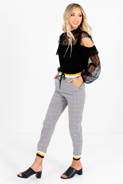 Black Fall Style Boutique Pants for Women