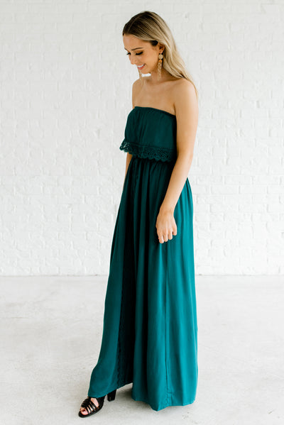 Teal Green Women's Spring and Summertime Boutique Maxi Dress