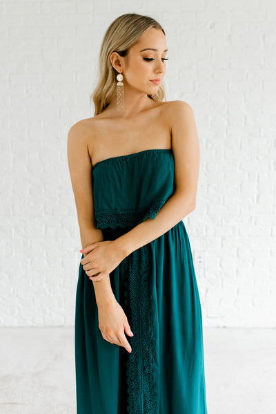 Teal Green Night Out Daytime Boutique Sundresses for Women