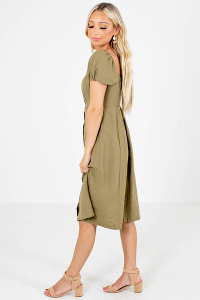 Two Worlds Apart Knee-Length Dress