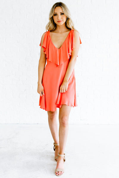 Women's Coral Pink Spring and Summertime Boutique Clothing