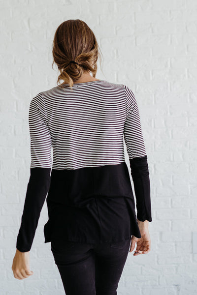 Black and White Striped Affordable Online Boutique Clothing for Women