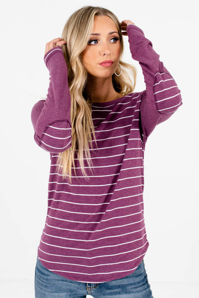 Women's Purple Lightweight High-Quality Boutique Tops