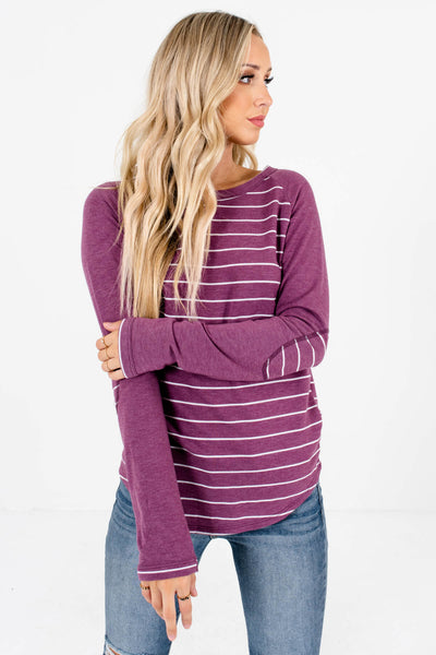 Purple Warm and Cozy Boutique Tops for Women