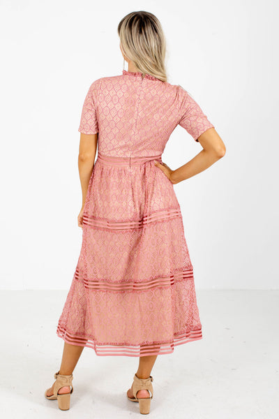 Pink Midi Dress Affordable Online Boutique For Women