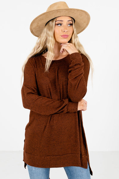 Women's Brown Warm and Cozy Boutique Clothing