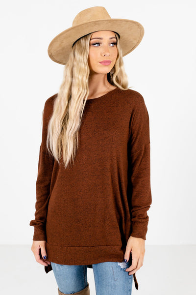 Brown Cute and Comfortable Boutique Tops for Women
