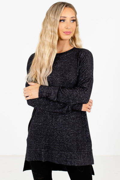 Women's Charcoal Gray Warm and Cozy Boutique Clothing