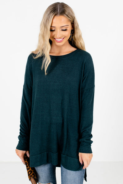 Women's Teal Green Warm and Cozy Boutique Clothing