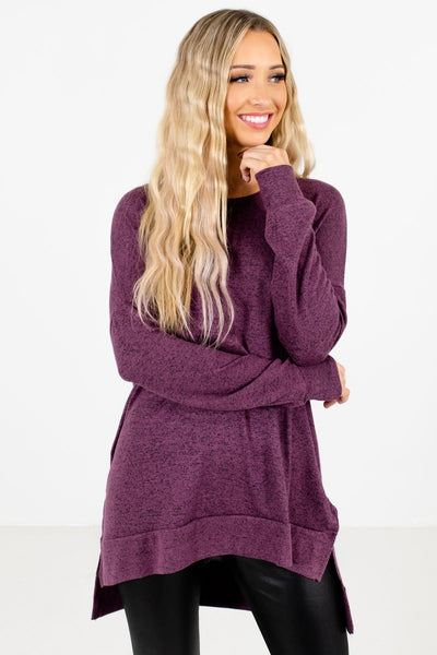 Women's Purple Warm and Cozy Boutique Clothing