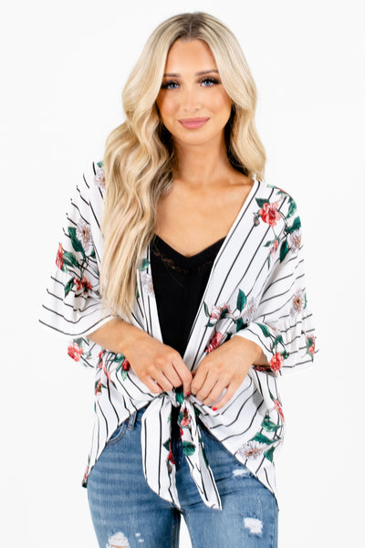 White Cute and Comfortable Boutique Kimonos for Women