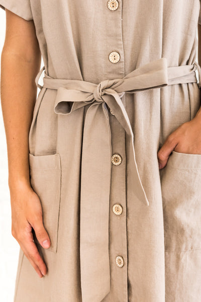 Taupe Brown Long Dresses for Women