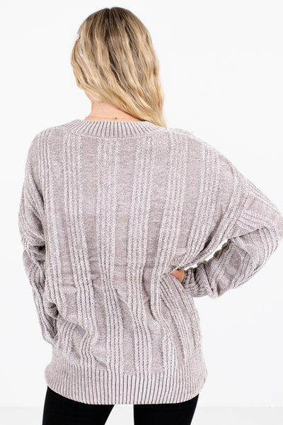 Women's Gray Longer Length Boutique Sweater