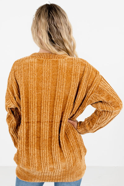 Women's Mustard Longer Length Boutique Sweater