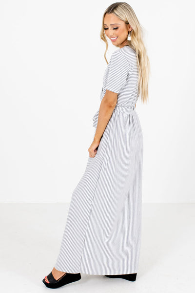 Women's Gray Casual Everyday Boutique Maxi Dress