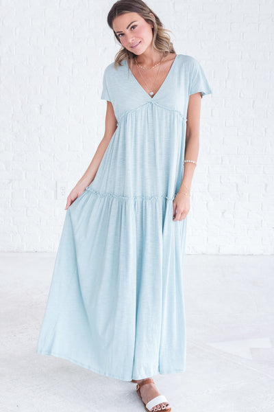 Light Blue Maxi Dresses for Women