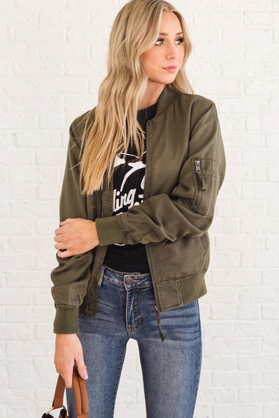 Olive Green Affordable Online Boutique Clothing for Women