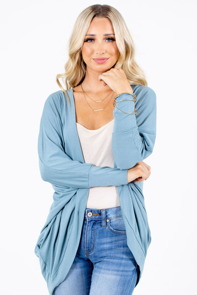Blue Cute and Comfortable Boutique Cardigans for Women