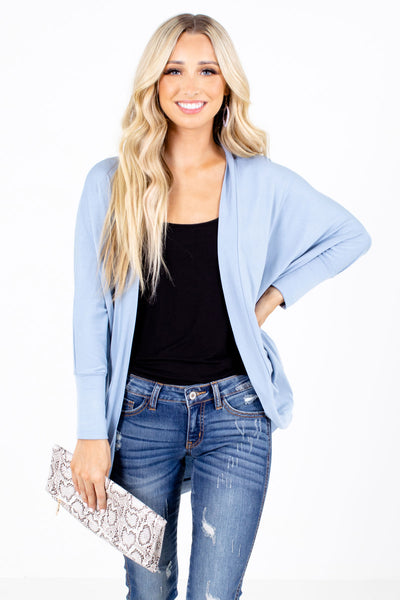 Blue Lightweight Boutique Cardigans for Women