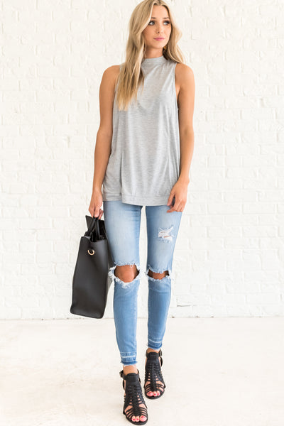 Gray Affordable Online Boutique Clothing