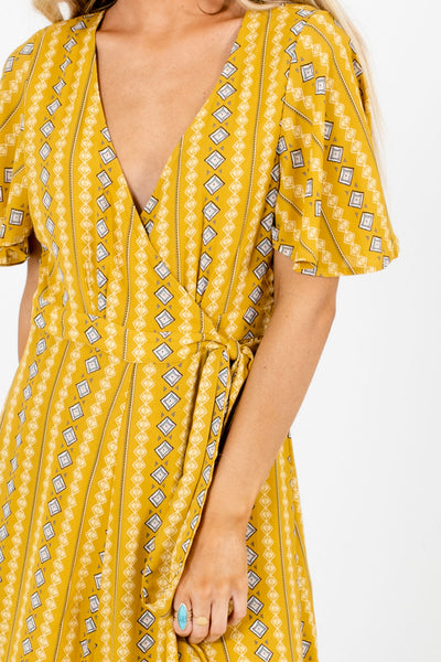 Mustard Cute and Comfortable Boutique Maxi Dresses for Women
