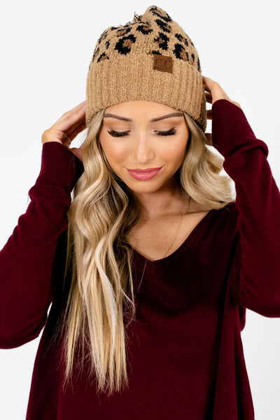 Women's Brown Warm and Cozy Boutique Beanie Hats