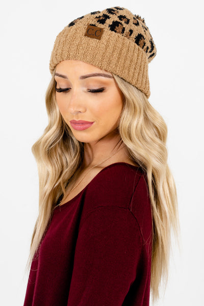 Women's Brown Pom Pom Boutique Beanies