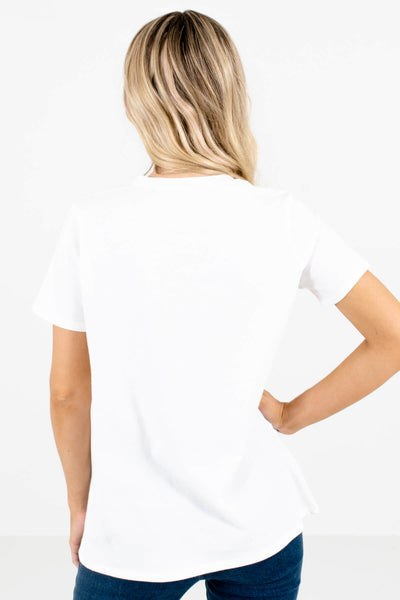 "Women's White ""Wild and Free"" Lettering Boutique Graphic Tee"