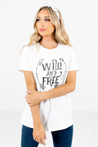 Women's White True-to-Size Fit Boutique Graphic Tees