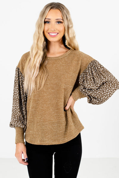 Olive Bishop Sleeve Style Boutique Tops for Women
