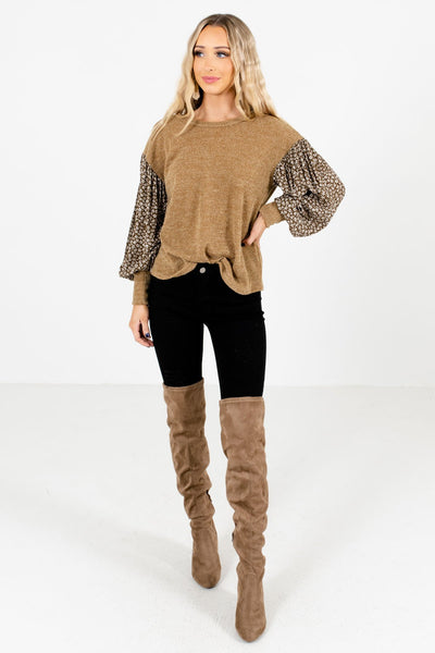 Olive Cute and Comfortable Boutique Tops for Women