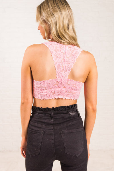 94e6dabe07c2a3 Pink Racerback Style Women s Boutque Bralette