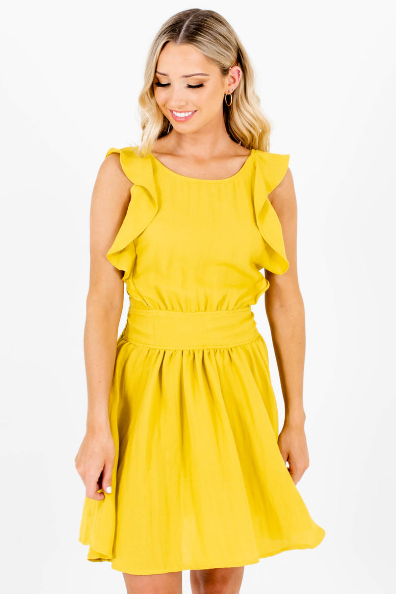 Win My Heart Chartreuse Yellow Mini Dress