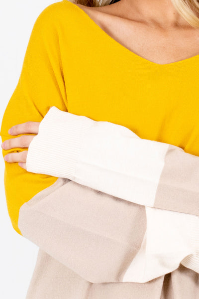 Mustard Affordable Online Boutique Sweaters for Women