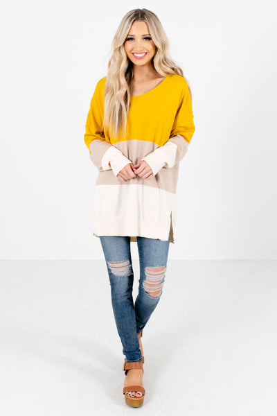 Women's Mustard Spring and Summertime Boutique Clothing