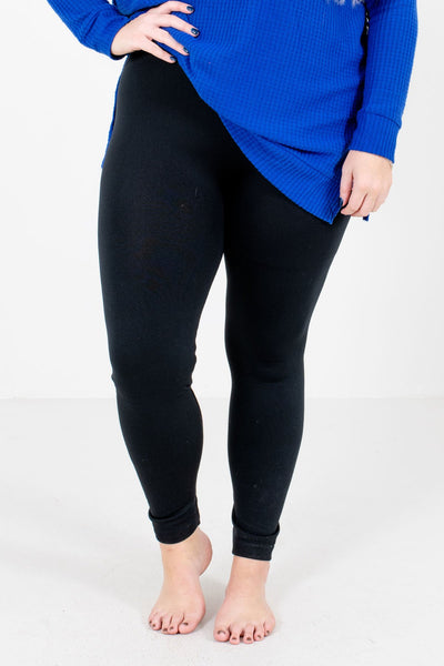 Women's Black Warm and Cozy Boutique Leggings