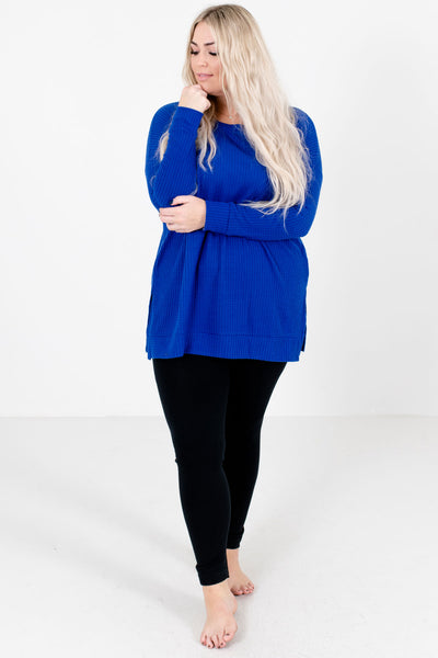 Winter Wonderland Black Fleece-Lined Curvy Leggings