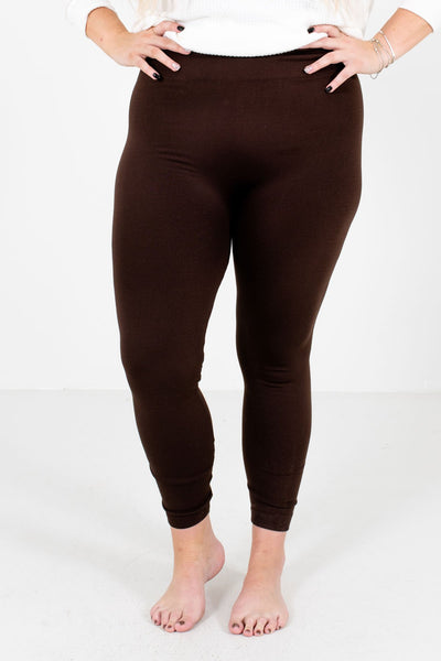 Brown Skinny Slimming Fit Boutique Leggings for Women