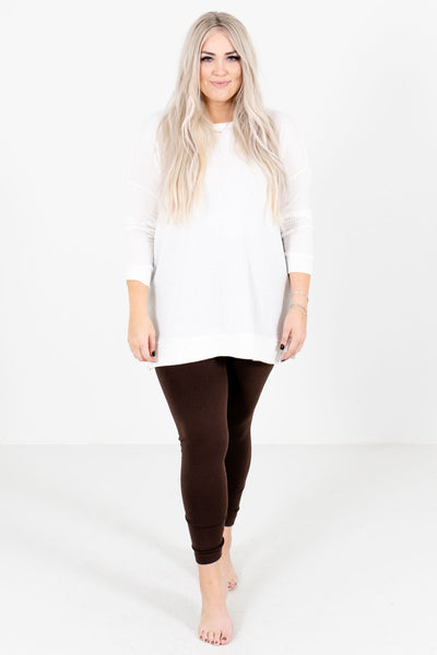 Brown Cute and Comfortable Boutique Leggings for Women