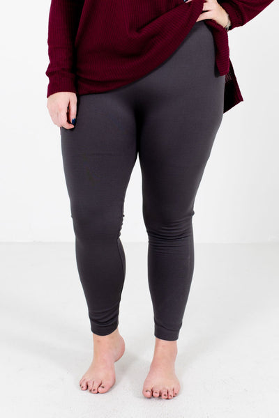 Women's Gray Warm and Cozy Boutique Leggings