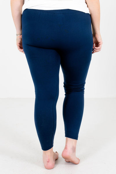 Navy Blue Skinny Slimming Fit Boutique Leggings for Women