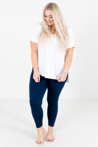 Navy Blue Soft High-Quality Boutique Leggings for Women
