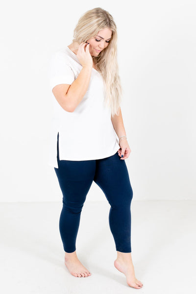 Navy Blue Cute and Comfortable Boutique Leggings for Women